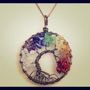 Tree of Life Multi Stone Pendant!